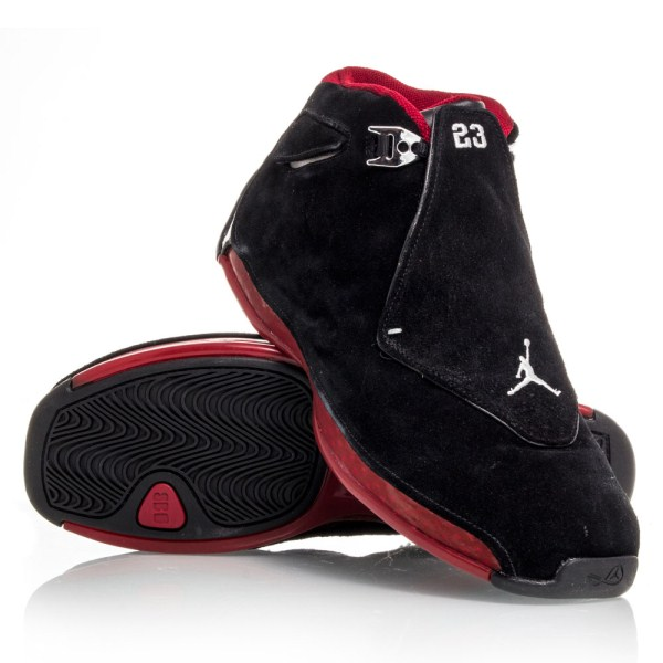 online store 75096 d2714 Air Jordan 18 - Mens Basketball Shoes - Black Red CDP